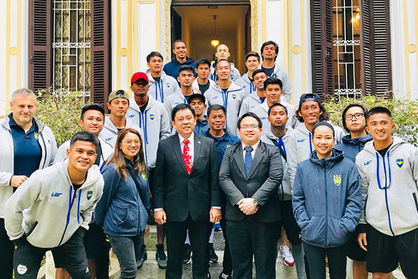 noel 2018 ha noi Global Cebu FC get warm welcome, advice from Philippine Embassy in  noel 2018 ha noi