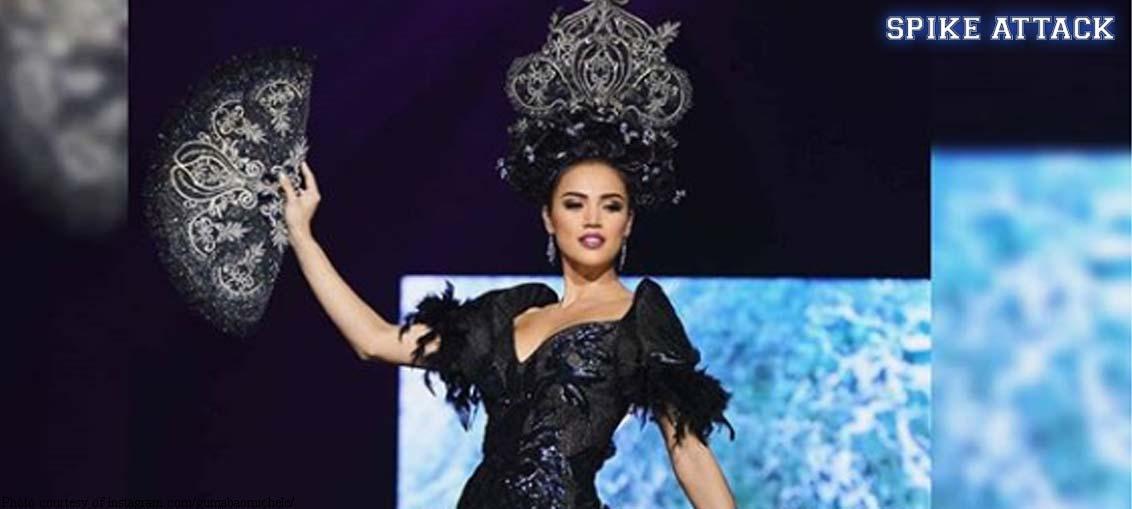 LOOK: Michele\'s Filipiniana gown | FASTBREAK.com.ph
